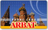 Arbat prepaid phone card $20